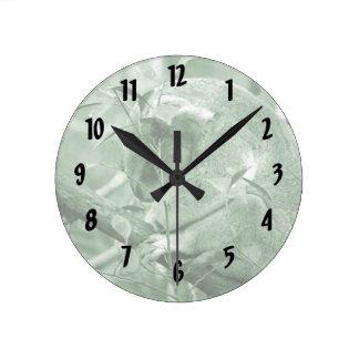 el dormir c verde de la cabeza de la koala abajo reloj redondo mediano