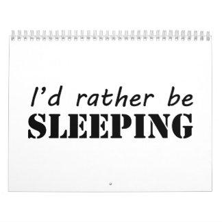 El dormir calendario