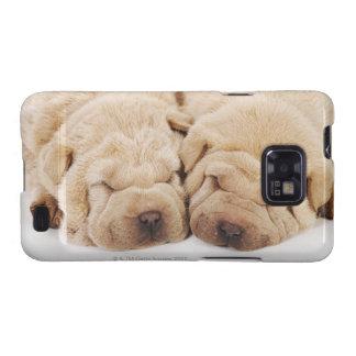El dormir de dos perritos de Shar Pei Samsung Galaxy SII Carcasa
