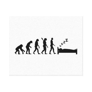 El dormir de la evolución lienzo envuelto para galerias