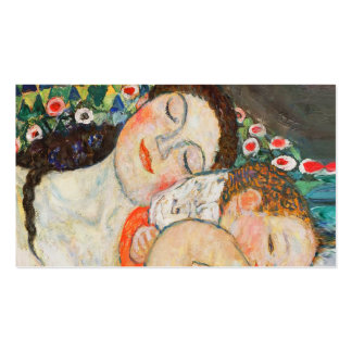 El dormir de la madre y del niño tarjetas de visita