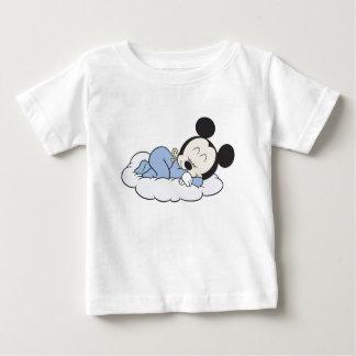 El dormir de Mickey del bebé Camisetas