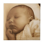 El dormir del bebé azulejo ceramica