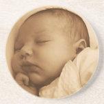 El dormir del bebé posavasos manualidades