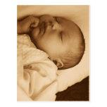 El dormir del bebé tarjetas postales