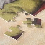 El dormir del gato del vintage puzzle
