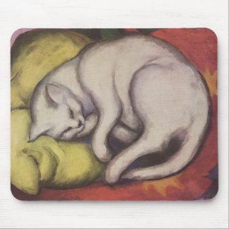 El dormir del gato del vintage tapete de ratón