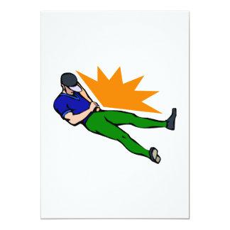 El dormir del jugador de la bola invitación 12,7 x 17,8 cm