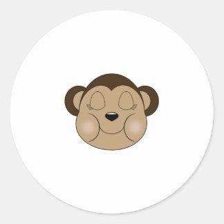 El dormir del mono etiqueta redonda