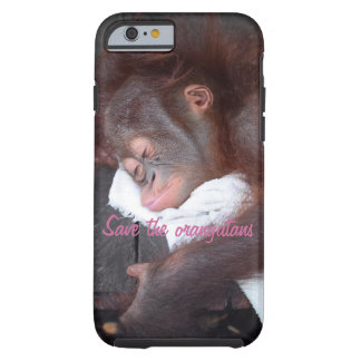 El dormir del niño del orangután funda de iPhone 6 tough