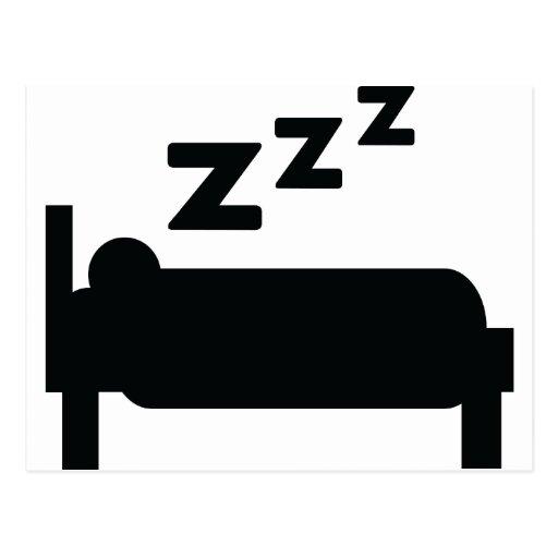 el dormir del zzz del sleepyhead postal