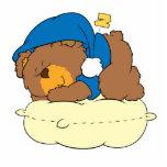 el dormir en diseño lindo del oso de peluche de la esculturas fotograficas