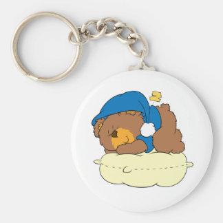 el dormir en diseño lindo del oso de peluche de la llavero redondo tipo pin
