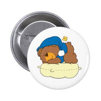 el dormir en diseño lindo del oso de peluche de la pin redondo de 2 pulgadas