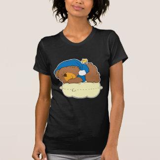 el dormir en diseño lindo del oso de peluche de la poleras