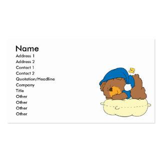 el dormir en diseño lindo del oso de peluche de la tarjetas de visita