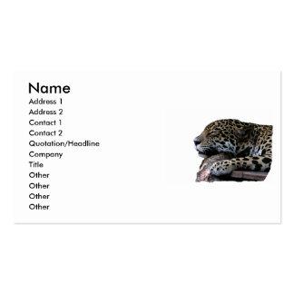 El dormir Jaguar ningún fondo Tarjetas De Visita