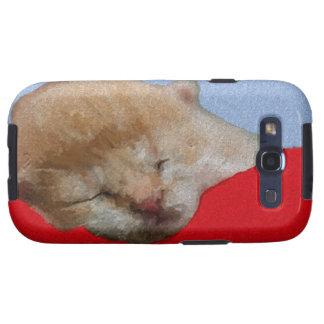 El dormir lindo del gatito galaxy SIII funda