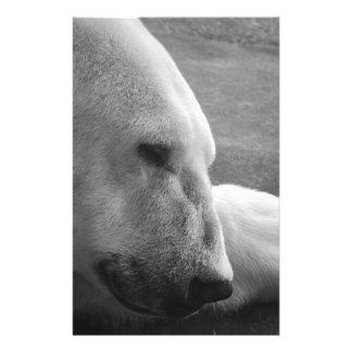 El dormir Polarbear Tarjetones