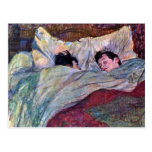 El dormir por Toulouse-Lautrec Postal