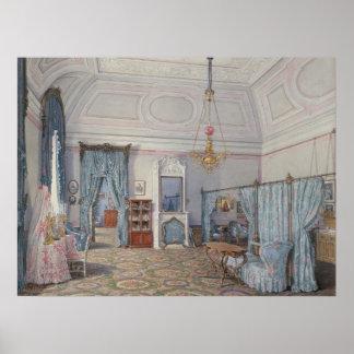 El dormitorio de princesa magnífica Maria Alexandr Poster