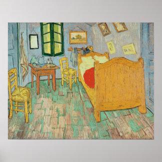 El dormitorio de Van Gogh en Arles, 1889 Póster