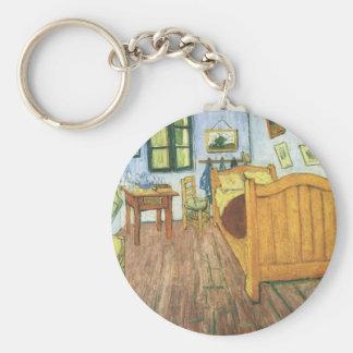 El dormitorio de Van Gogh en Arles Llavero Redondo Tipo Pin
