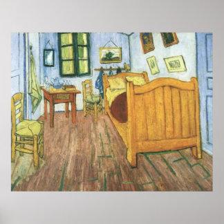El dormitorio de Van Gogh en el poster de Arles