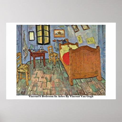El dormitorio de Vincent en Arles de Vincent van G Poster
