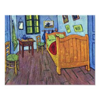 """El dormitorio de Vincent en Arles de Vincent van Invitación 4.25"""" X 5.5"""""""