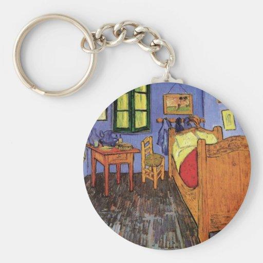 El dormitorio de Vincent en Arles de Vincent van Llavero