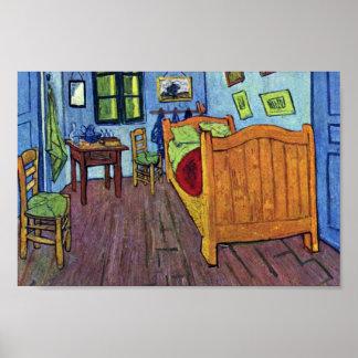 El dormitorio de Vincent en Arles de Vincent van Póster