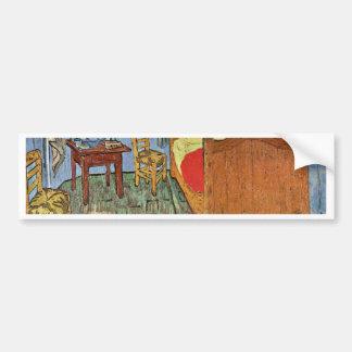 El dormitorio de Vincent en Arles, por Vincent van Pegatina Para Auto