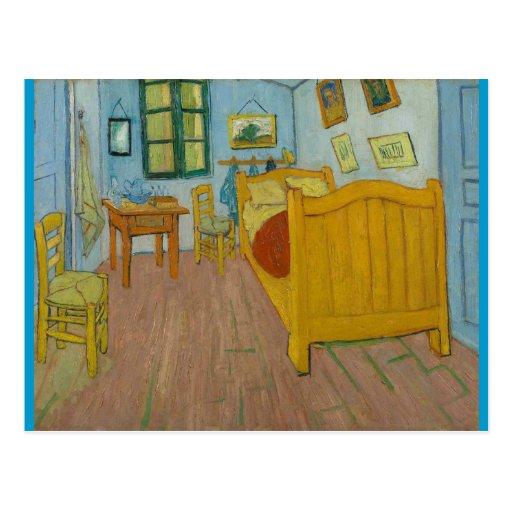 El dormitorio de Vincent en Arles Tarjeta Postal