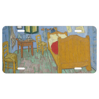 El dormitorio de Vincent van Gogh Placa De Matrícula