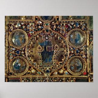 El d'Oro de Pala, detalle de Cristo en majestad co Póster