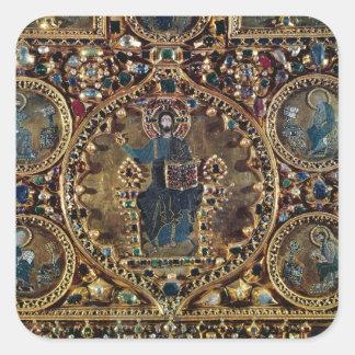 El d'Oro de Pala, detalle de Cristo en majestad Calcomania Cuadradas Personalizadas