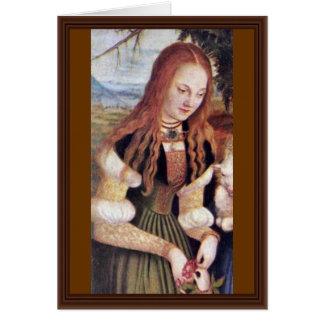 El Dorothea santo por Cranach D. Ä. Lucas (el mejo Felicitacion