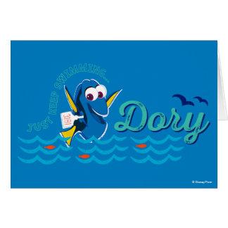 El Dory el | apenas guarda el nadar Tarjeta De Felicitación