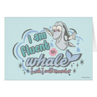 El Dory el | soy fluido en la ballena cómica Tarjeta De Felicitación