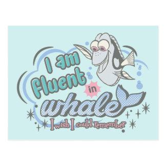 El Dory el   soy fluido en la ballena cómica Tarjetas Postales