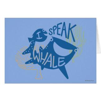 El Dory y el destino el | hablo la ballena Tarjeta De Felicitación