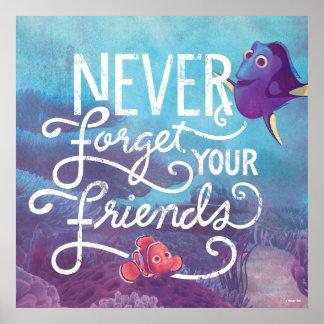El Dory y Nemo el | nunca olvidan a sus amigos Póster