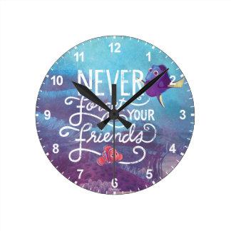 El Dory y Nemo el | nunca olvidan a sus amigos Reloj Redondo Mediano
