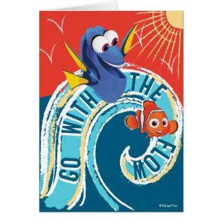 El Dory y Nemo el | van con el flujo Tarjeta De Felicitación