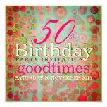 El DOS puntea a la 50.a fiesta de cumpleaños de la Invitación 13,3 Cm X 13,3cm
