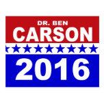 El Dr. Ben Carson 2016 Postal