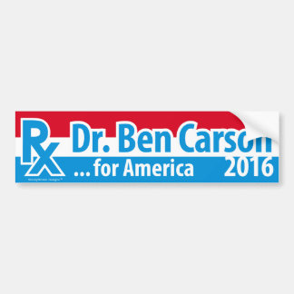 El Dr. Ben Carson 2016 - prescripción para América Pegatina Para Auto
