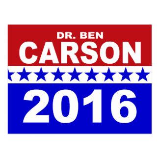 El Dr. Ben Carson 2016 Tarjetas Postales