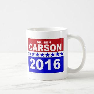 El Dr. Ben Carson 2016 Taza Básica Blanca